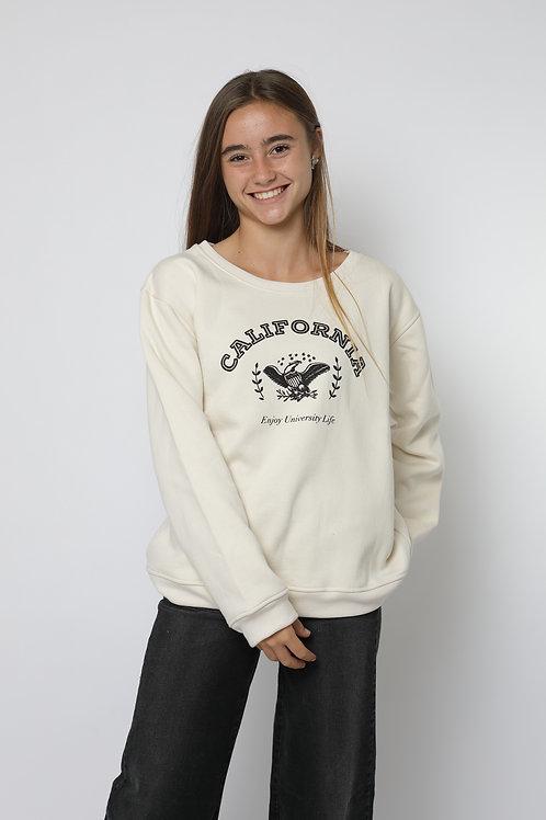 Polerón crudo california cuello polo