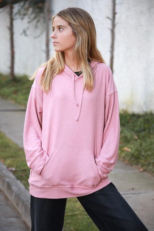 Polerón canguro rosado