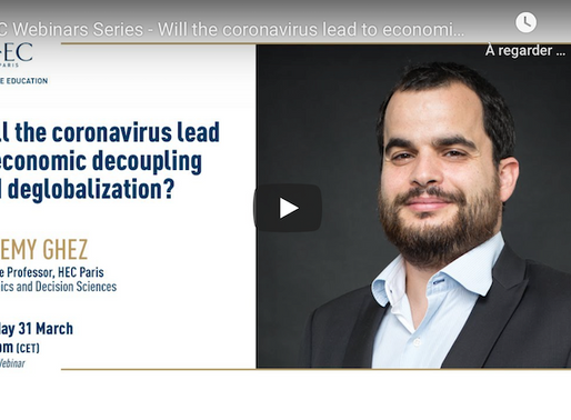 Will the coronavirus lead to economic decoupling and deglobalization?