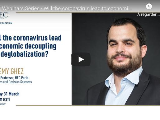 Will the coronavirus lead to economic decoupling and deglobalization?