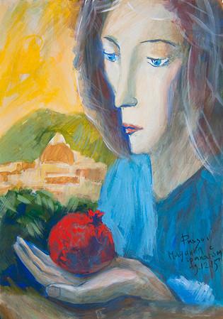 Madonna with pomegranate (Florentine Madonna). 2015