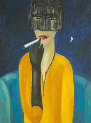 Незнакомка с сигаретой. 2018