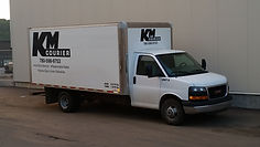 KM Courier Delivery Truck