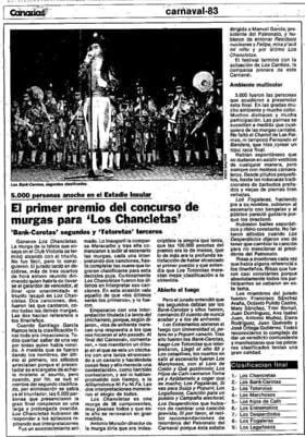Hemeroteca: Primer Premio de 1983