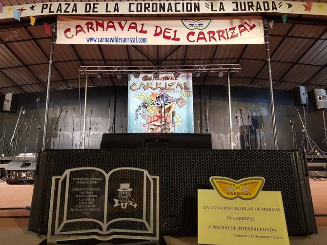 2º Premio de Interpretación en Carrizal y Premio a la Mejor Letra