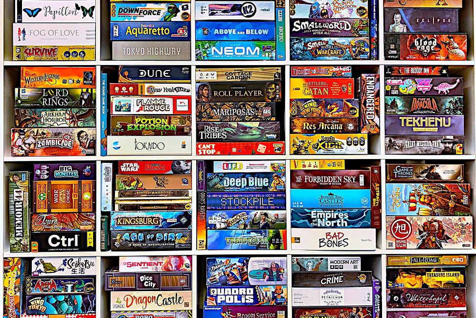 games shelves