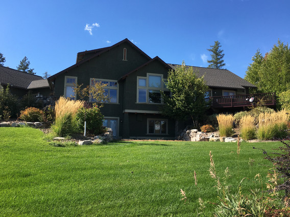 Staining of Modern Country Home in Whitefish, MT