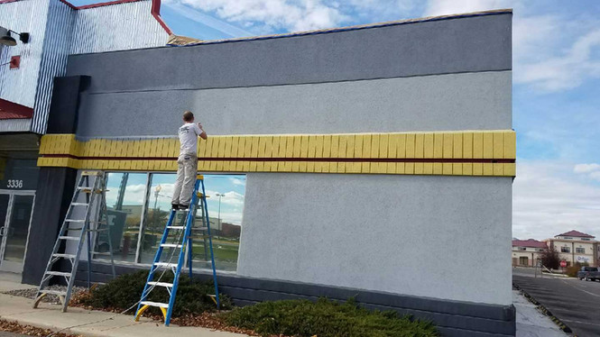 Fuel Fittnes Gym | Exterior Painting | Three color  | Work in progress