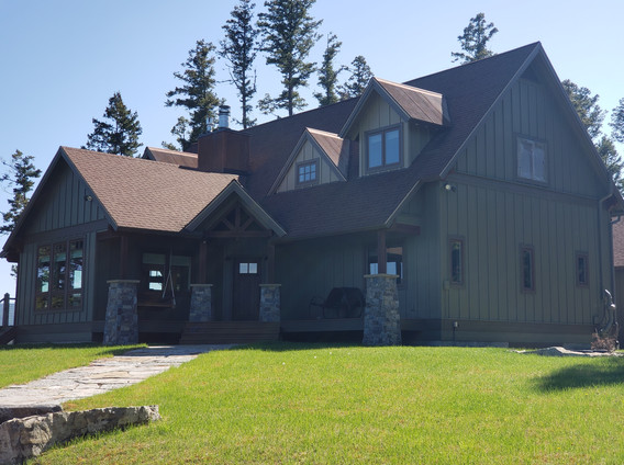 Exterior painting of Ashley Lake, MT Home