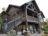 Stained Beams | Stained Posts | Stained Railing | Shingle Staining | Lap Siding Staining