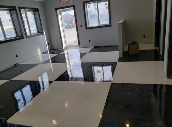 Finished Epoxy Flooring (Sorry for the dust)