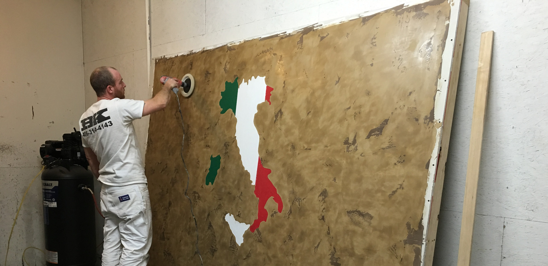 On the process of completing an Italian Venetian Plaster Wall