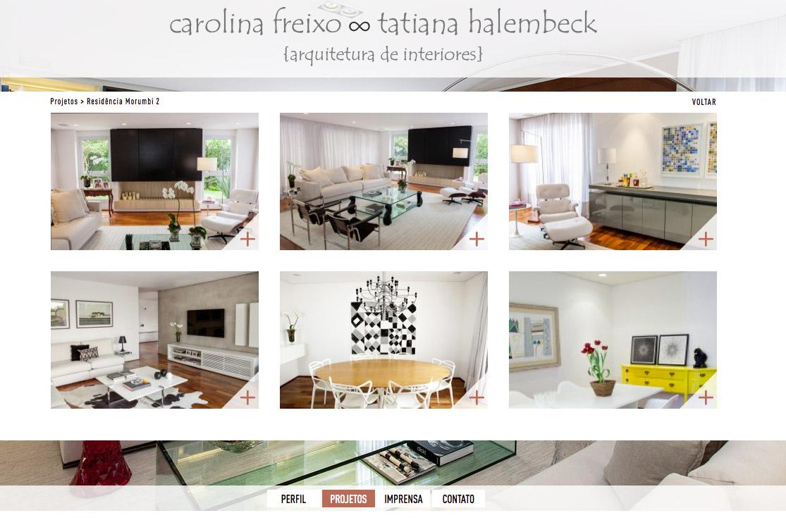 Arquitetas Carolina Freixo e Tatiana
