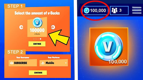 Free Fortnite V-Bucks Generator No Human