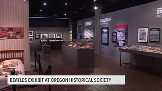 Beatles exhibit in Portland KGW8 TV - 5.