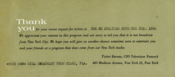 Ed Sullivan Show ticket rejection notice Feb. 16, '64.jpg