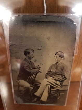 Tintype Photo -Two Soldiers
