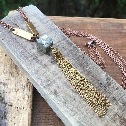 Pyrite & Bar Necklace