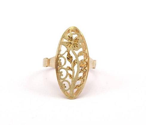 Flower Shield Ring