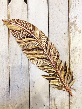 Giant Copper Feather - Metallic