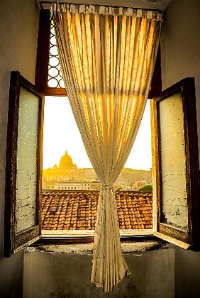 "Metal Wall Hanging, ""Vatican Through the Window"""