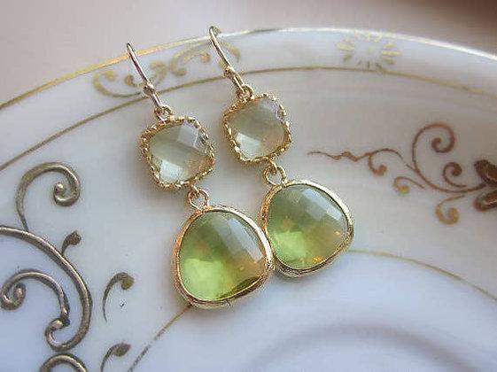 Peridot Earrings with Citrine