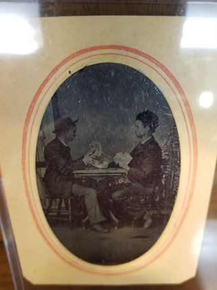 Tintype Photo - Two Men in Card Game