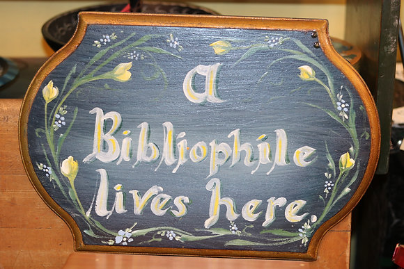 Bibliophile Sign