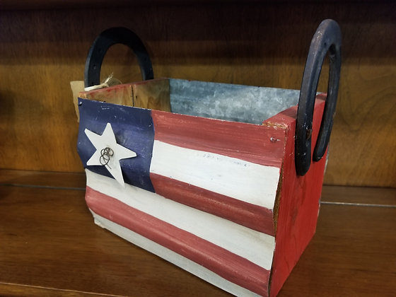 Patriotic Carrier w/ Horseshoe Handles