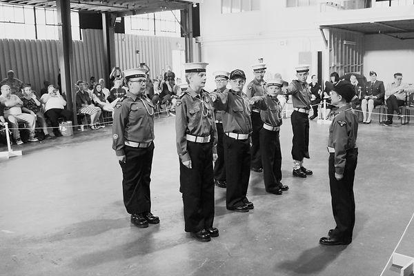 drill team at annual 2019 bw.JPG