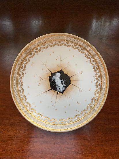Minton Pâte-sur-pâte plate with cherub