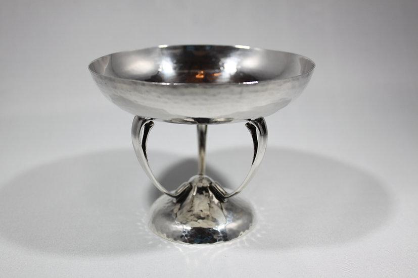 Art Nouveau silver tazza