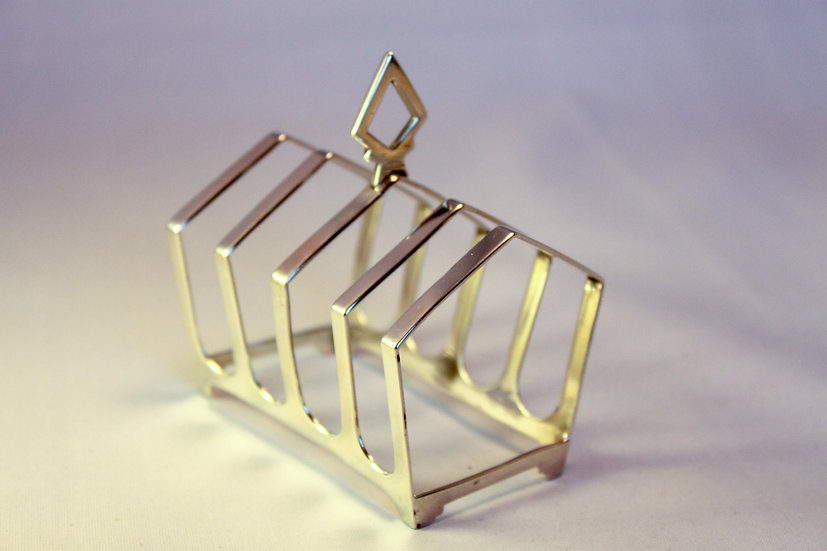 Art Deco silver toast rack