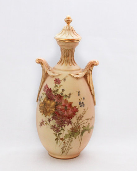 Royal Worcester Blush Ivory vase and cover