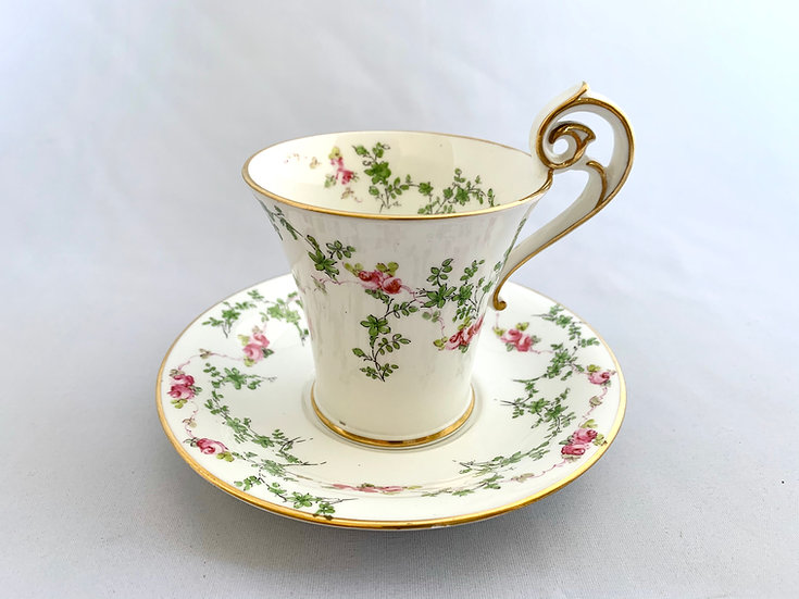 Royal Crown Derby high handled cup and saucer