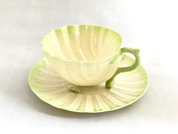 Belleek Neptune tea cup and saucer