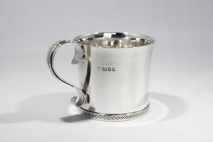 Silver cup with applied detailing