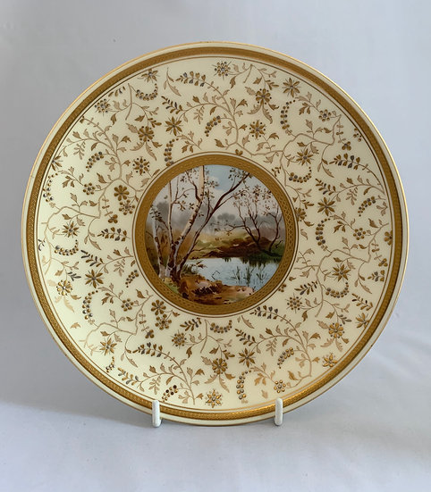 Minton aesthetic movement plate