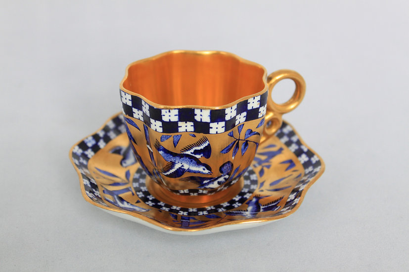 Coalport 'Japanese Grove' demitasse coffee cup and saucer