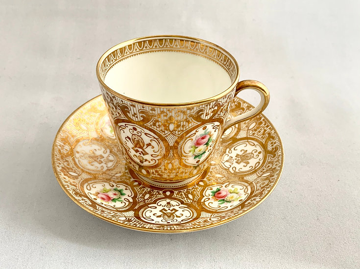 Brown Westhead & Mooretea cup and saucer