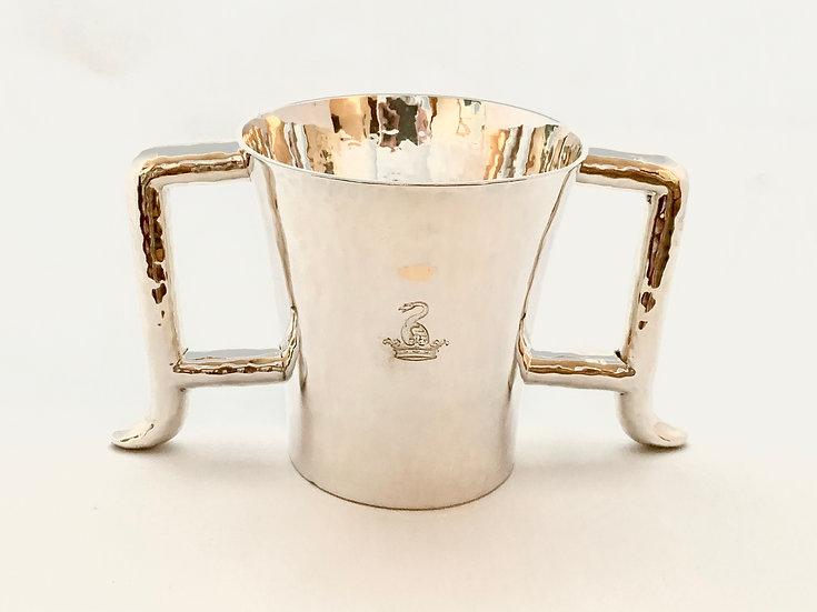 Unusual Scottish Britannia standard silver loving cup