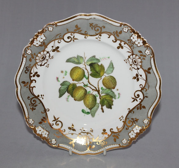 Ridgway plate painted with gooseberries