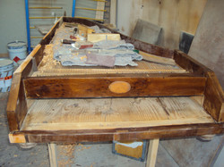 Restoring the body of the piano...