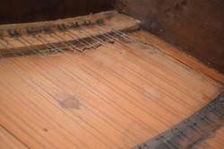 Cracks on the treble of soundboard