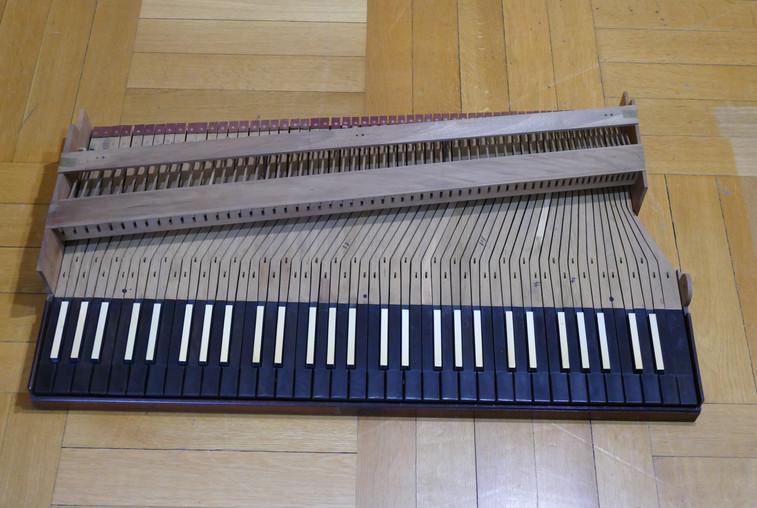 Old piano restoration