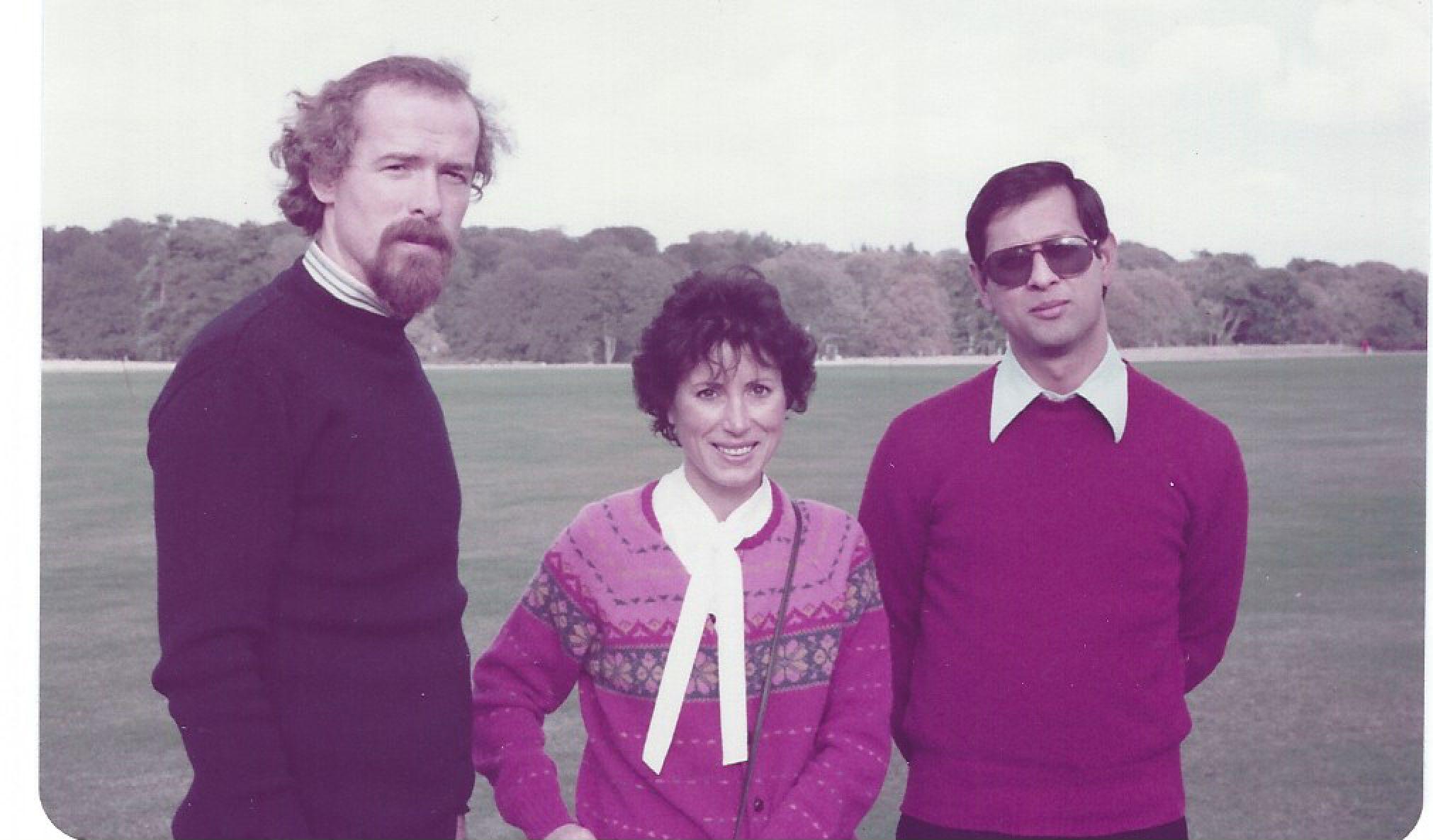 Con David e Eugene, 1982