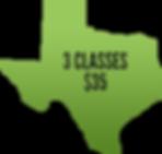 3 classs $35