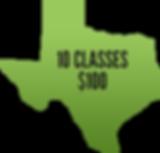 10 classes $100