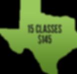 15 classes $145