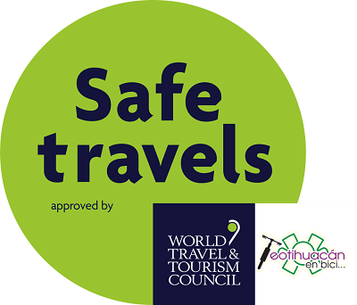 Teotihuacan by bike obtains the Safe Travel safety seal from the WTTC